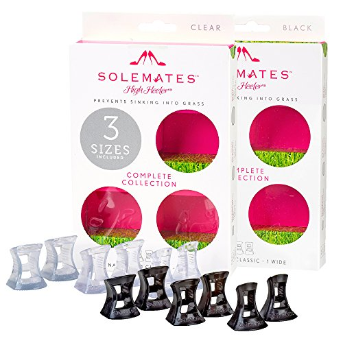 Complete Wedding Collection (Solemates Heel Protectors Complete Collection – High Heel Stoppers Perfect for Any Wedding Or Event Protecting Heels from Grass, Gravel, Bricks, and Cracks (Narrow, Classic, Wide, Clear & Black))