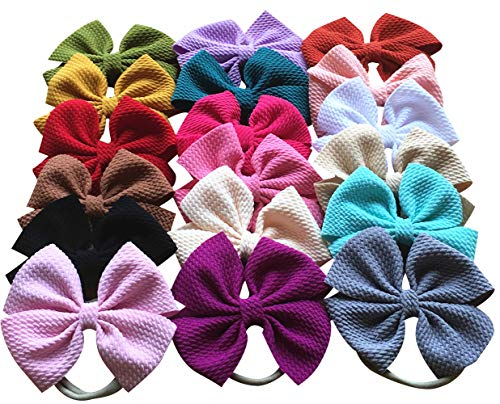 Toptim Baby Girl's Stretch Headbands and Bows for Infant Toddler Photographic Accessories