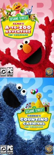 Sesame Street 2 Pack! Elmo's A-To-Zoo Adventure + Cookie's Counting Carnival (Elmo 123 Dvd)