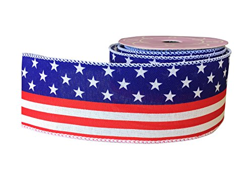 (Red White Blue Patriotic Ribbon - 2 1/2