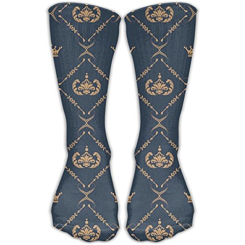 Cool Royal Crown Imperial Crew Socks Long Compression Socks For Women