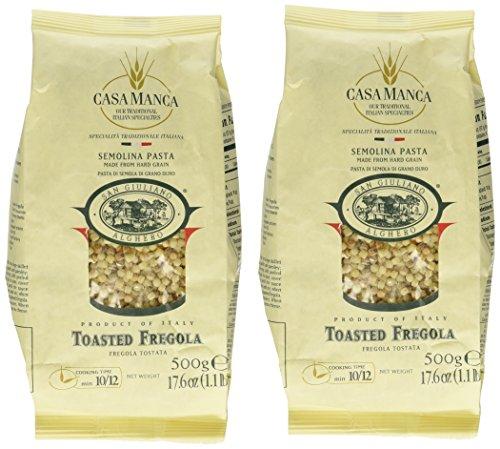 Casa Manca - Italian Toasted Fregola, (2)- 1.1 Pound Pkgs