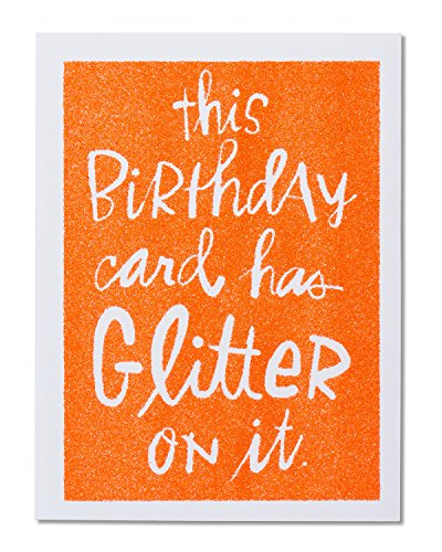 American Greetings Funny Glitter Birthday Greeting Card with Glitter]()