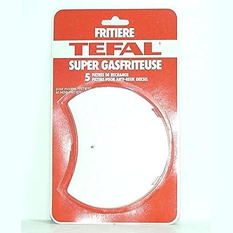 Tefal - Filtros x 5 repuesto freidora Gas *: Amazon.es: Hogar