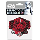WinCraft Ohio State Buckeyes Official NCAA 4 inch x 4 inch Star Wars Storm Trooper Die Cut Car Decal by 155214
