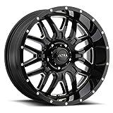 Ultra 203BM Hunter 18x9 6x139.7 +18mm Black/Milled Wheel Rim