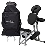 Stronglite EPC2BL Ergo Pro II Portable Massage Chair Package - Lightweight, Foldable Tattoo Spa Massage Chair with wheels (only 19lbs), Black