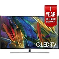 Samsung Curved 55 4K Ultra HD Smart QLED TV 2017 Model (QN55Q7CAMFXZA) with 1 Year Extended Warranty