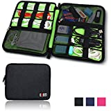 BUBM Universal Cable Organizer Electronics Accessories Case Various USB, Phone, Charge, Cable organizer Travel Organizer--king Size (Black)