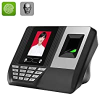 Biometric Time Attendance System - 300 Facial Templates + 3000 Fingerpint Templates, 100000 Storage, 2.8 Inch Display