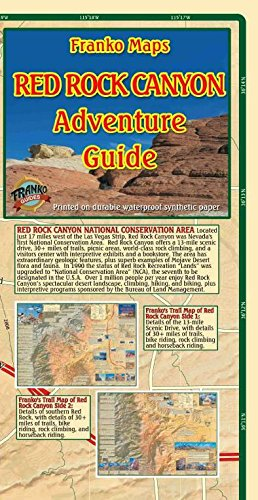 Red Rock Canyon Nevada Adventure Guide Topographic Trail Map Franko Maps Waterproof Map Nevada Rocks