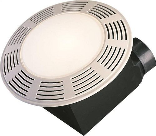 Air King AK863L Deluxe Bath Fan with Light and Night Light, Round ()