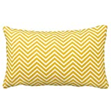 Nautical Anchor with Navy Yellow Chevron Pattern Throw Pillows 50% Cotton 50% Polyester 20 x 12 inches Pillowcase