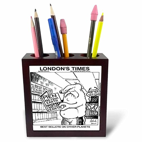 Londons Times Famous People Places Books Cartoons - BEST SELLERS ON OTHER PLANETS - 5 inch tile pen holder (ph_1569_1) Best Sellers Tile