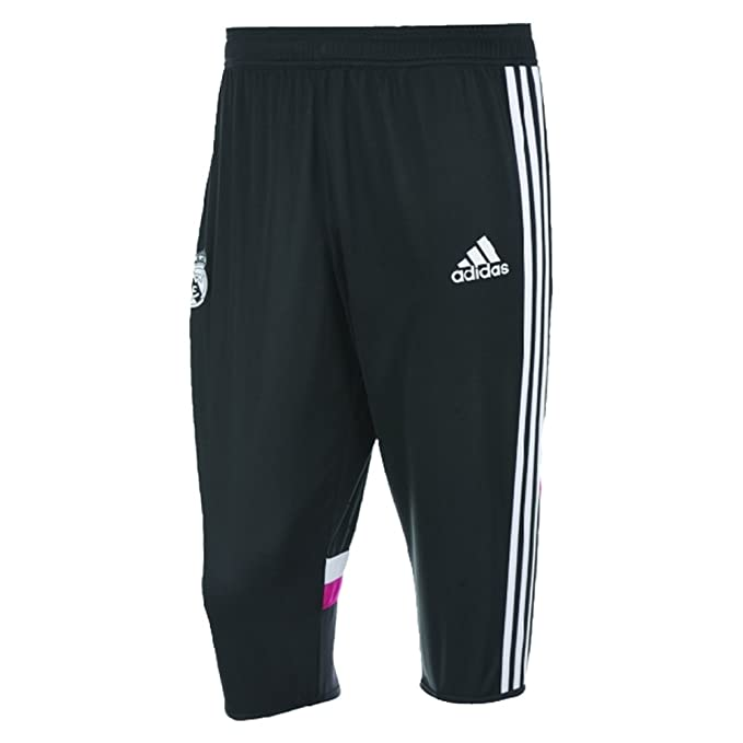Amazon.com: adidas Real Madrid 3/4 Pant, L, Negro: Clothing