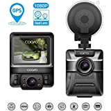 COOFO Dual Lens Car Dash Cam,1080P FHD 150 ° Wide-Angle Lens, Car DVR Dashboard Camera Recorder,Built-In GPS,G-Sensor, 2.5 LCD, WDR and Parking Monitor Function