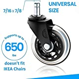 Office chair wheels replacement rubber chair