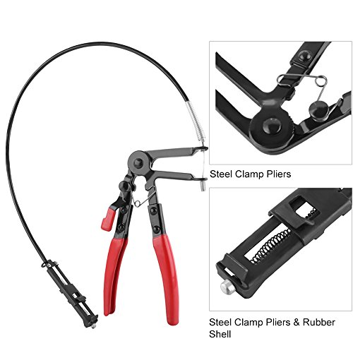 Flexible Wire Long Reach Hose Clamp Pliers Car Fuel Oil Water Hose Pliers by Walfront (Image #3)