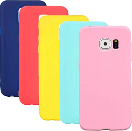 HereMore 5 x Coque Samsung Galaxy S7, Etui Silicone Gel Souple Coque Cover Doux Soft Case Housse Protection Anti Rayures pour Samsung Galaxy S7 - ...