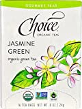 Choice Organic Teas Gourmet Teas Jasmine Green -- 16 Tea Bags - 2pc