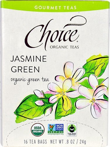 Choice Organic Teas Gourmet Teas Jasmine Green -- 16 Tea Bags - 2pc by Choice Organic Teas