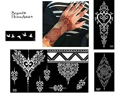 NUEVO y único. Henna Tattoo Plantillas para de Mano y pintura ...