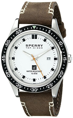 Sperry Top-Sider Men's 102013 Navigator Analog Display Japanese Quartz Brown Watch