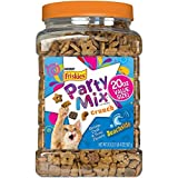 Party Mix Crunch Beachside Cat Treats 20 oz. Canister,Shrimp, Crab and Tuna Flavors,New