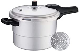 7.5L Large-capacity Aluminum Alloy Pressure Cooker Household Fast-heat Safety Explosion-proof Pressure Cooker for Open Flame Gas (Color : 6L)