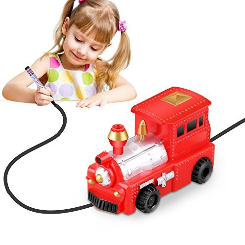 YoCosii Inductive Train Toy , inductive Truck Magic Vehicles Follow The Black Line for Kids