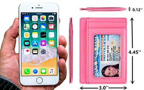 Kalmore Credit Card Holder Genuine Leather Slim & Thin Pocket Wallet Minimalist Wallet Money Clip RFID Blocking by KALMORE (Image #4)