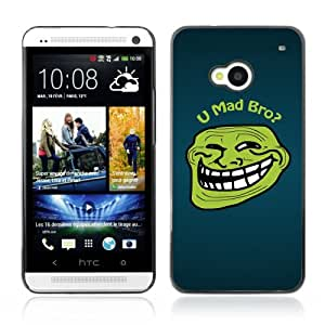 DesignHeaven Slim Design Case HTC ONE ( M7 ) ( Cool Funny Meme Mad Bro Troll Face )