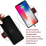 Wireless Charger, Wireless Charging Certified Ultra-Slim Updated Version Fast Charging compatible iPhone X, iPhone 8/8 Plus, Samsung Galaxy and Android smartphones (AC Adapter Not Included)