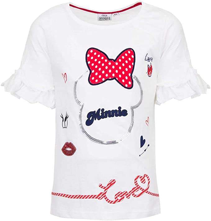 Minnie Mouse Bimba T Shirt Maniche Corte
