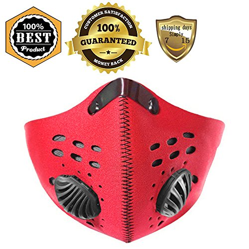 MeanHoo Bike Cycling Anti-dust Half Face Mask with Filter Neoprene - Size L (Good Two Person Halloween Costumes)