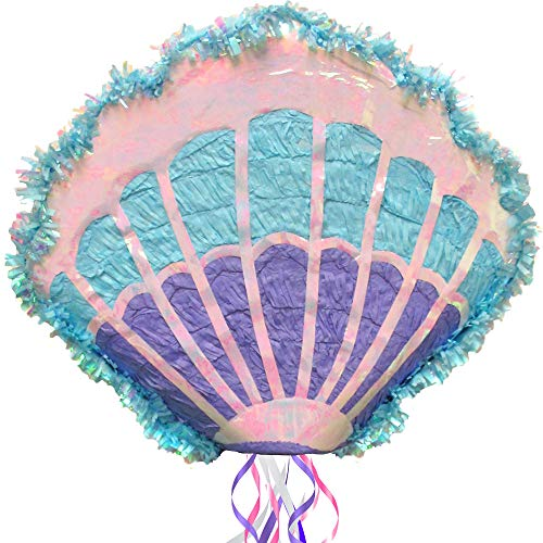 Mermaid Party Supplies Sea Shell Pull String Pinata]()