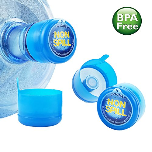 Crystal Jug - 3 & 5 Gallon Water Jug Cap Replacement Non Spill Bottle Caps with Cap-Opener Anti Splash Peel Pack of 20