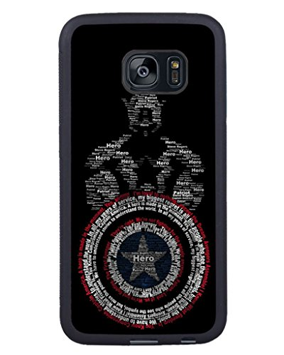 Price comparison product image S7 Edge TPU Phone Case, Captain America Popular Gifts Case Cover for Samsung Galaxy S7 Edge (Black)