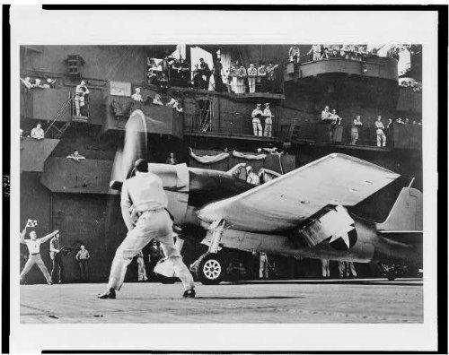 Infinite Photographs Photo: Grumman Hellcat(F6F),Navy Fighting Plane,Aboard Aircraft Carrier,1943,WWII