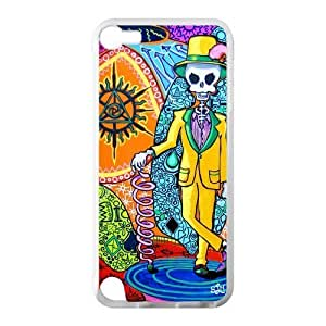 Canting_Good Tie Dye Colorful Mr Skull Custom Case Cover Shell for IPod Touch 5 TPU (Laser Technology)