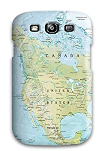 Awesome YpoEdHk8593hfocW SeanSmith Defender Tpu Hard Case Cover For Galaxy S3- Maps United States Of America