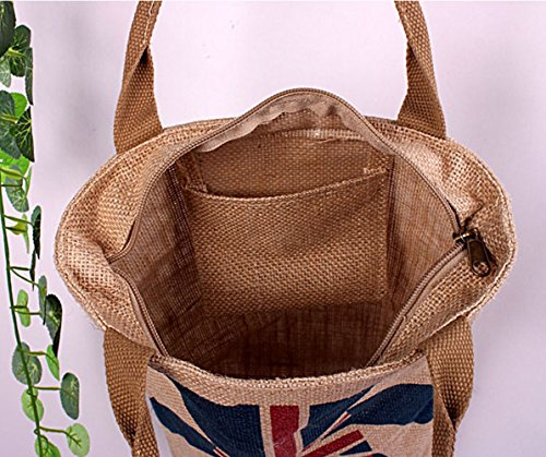 Water Cartoon Sporting zipper Proofing Ideal Jute reg;Jute Bag Addfun with Shopping Totes Outdoor Bags Picnics Book for qxaSwtX
