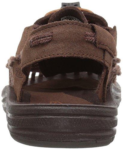 Keen Womens Uneek Leather-w Sandal French Roast/Tandori Spice Sc