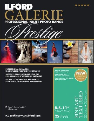 Ilford Galerie Fine Art - ILFORD 2002410 GALERIE Prestige Fine Art Textured - 8.5 x 11 Inches, 25 Sheets