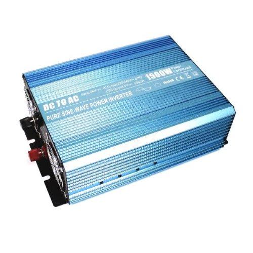 Cablematic - Reine Sinus-Wechselrichter 20 ~ 31VDC bis 220VAC 1500W Solar-USB