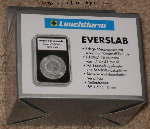Pack of 5 Lighthouse EVERSLAB 28mm Graded Coin Slabs 1/2oz Gold Philharmonic Holders
