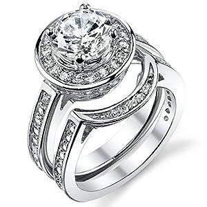 Discount Diamond Wedding Ring Sets 96 Simple  Carat Round CZ