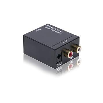 conversor de audio digital - De analógico a - digital - SPDIF/ Toslink/ óptico/ Koaxial conector,Analógico Estéreo L/ R RCA a Digital Óptical Coaxial ...