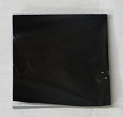 "500 3"" X 3"" Black Confectionery Foil Wrappers Candy Wrappers Candy Making Supplies"