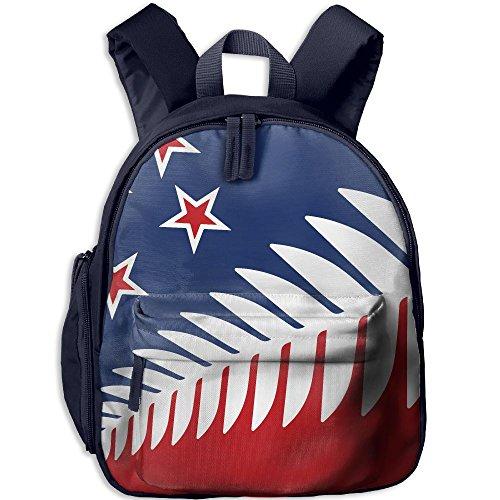 Children Pre School Backpack Boy&girl's Fern Nz Flag Star Book - Nz Beach North